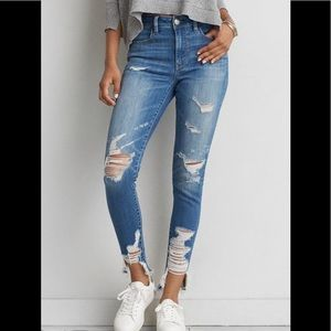 AE Distressed Hi Rise Jegging